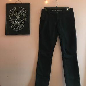 black work pants. khaki material